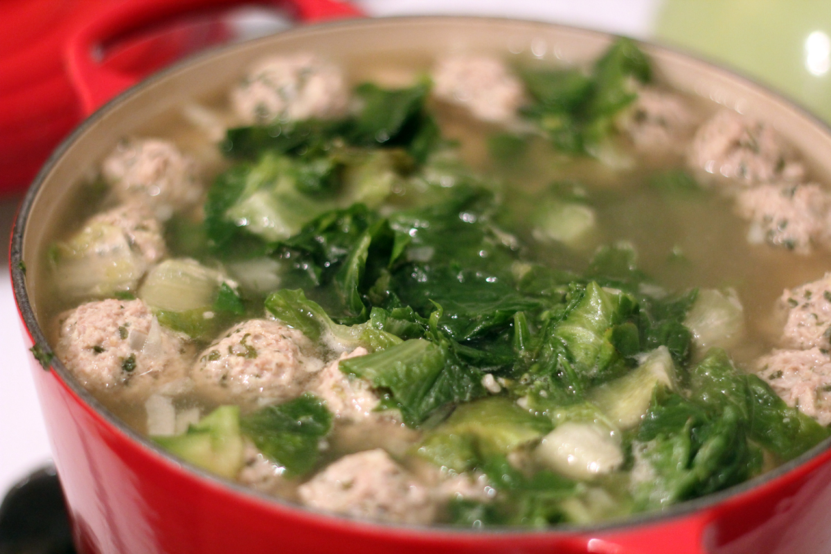 italian wedding soup w/turkey meatballs – really risa